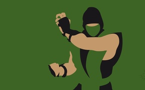 Picture green, silhouette, ninja, Reptile, Mortal Kombat, Mortal Kombat, fighting, Reptile