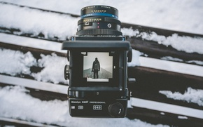 Picture winter, snow, landscape, mountains, photo, camera, lens, Mamiya, RZ67
