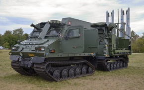 Wallpaper missile system, armoured all-terrain vehicle, Mk IIB IRIS-T SLS, BvS 10