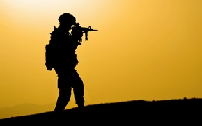 Picture background, silhouette, soldiers