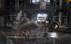 Picture Museum, Shuttle, The plane, Aeronautics, Sr-71A, exhibit