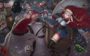 Picture lol, League of Legends, annie, ashe, lulu, braum, lissandra