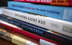 Picture letters, books, words, German, german, English
