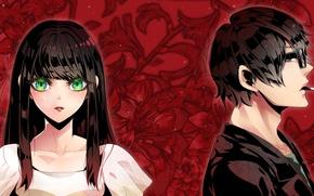 Picture girl, anime, art, guy, Subete Ga F Ni Naru