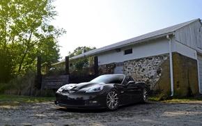 Picture wheels, corvette, black, chevrolet, z06, strasse
