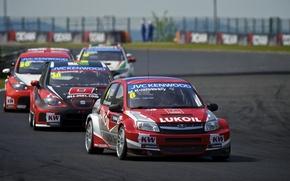 Picture background, Wallpaper, track, fight, Honda, Lada, Granta, Leon, Hungary, Civic, Seat, WTCC, the world championship …