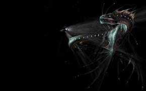 Picture dragon, art, bathyscaphe, ocean