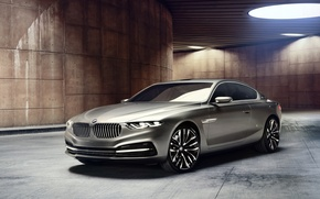 Picture background, lamp, coupe, BMW, BMW, the concept, Coupe, the front, Gran Lasso, Gran Lusso