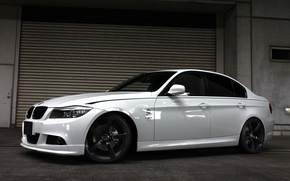 Picture white, tuning, BMW, BMW, sedan, Sedan, E90, 3 Series, 2014, 3D Design
