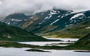 Picture clouds, mountains, Norway, Norway, Beitostølen, Øystre Slidre