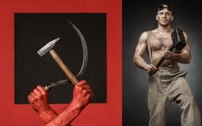 Picture hammer, working, hammer
