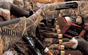 Wallpaper Benelli, shotgun, camouflage
