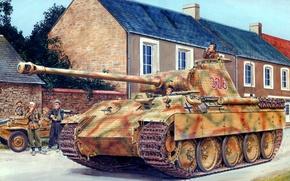 Picture the Germans, figure, medium tank, Panther, Sd.Car. 171, ron volstad, Panzerkampfwagen V Panther