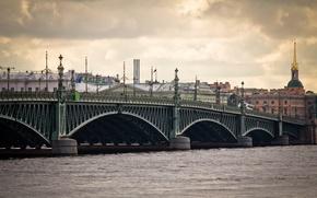 Picture bridge, river, Russia, promenade, Peter, Saint Petersburg, St. Petersburg