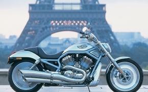 Wallpaper Motorcycle, Paris, Harley Davidson, Landscape