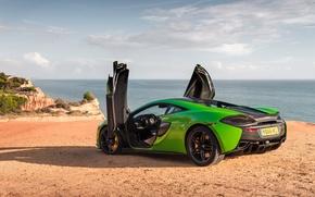 Picture sea, beach, McLaren, 570S
