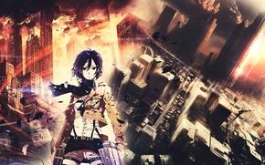 Picture the city, cutie, Mikasa, Shingeki no Kyojin, The invasion of the titans