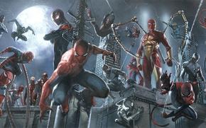 Picture marvel, spider man, spider girl, captain spider, miles morales, spider ham, spider verse, may parker, …