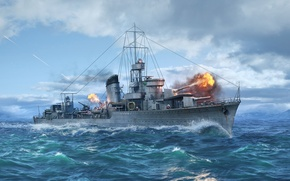 Picture Destroyer, Wargaming Net, WoWS, World of Warships, The World Of Ships, ORP Lightning