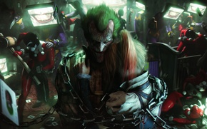 Picture girl, smile, batman, villain, chain, joker, harley quinn, harley