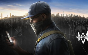 Wallpaper Marcus, Marcus Holloway, Watch Dogs 2, DedSec, Phone, Game, Ubisoft, San Francisco