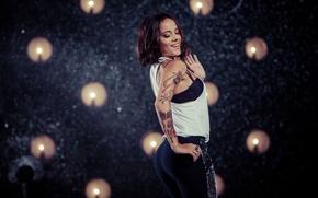 Picture Girl, Smile, Girl, Dance, Wallpaper, Brunette, Singer, Sexy, Body, Smile, Dance, Wallpaper, Figure, Tattoo, Alizee, …