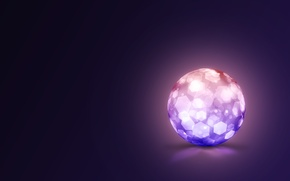 Picture crystal, background, ball, art, sphere, cell