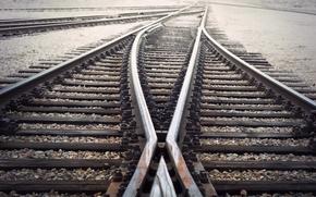 Picture metal, lines, railroad, sleepers