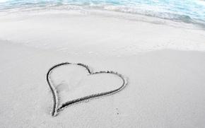 Picture sand, beach, mood, Wallpaper, shore, heart