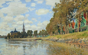 Picture landscape, picture, Claude Monet, Zaandam