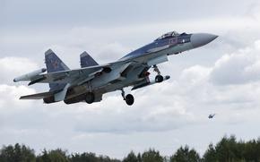 Wallpaper Su-35S, the plane, weapons