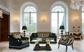 Picture design, style, interior, living room, Dom-castle