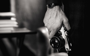 Wallpaper photo, Olympus, time, camera photo, photography, art, photographer, hand, wristwatch, technology, style, black and white, ...