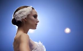 Picture girl, feathers, Natalie Portman, Natalie Portman, ballerina, Black Swan