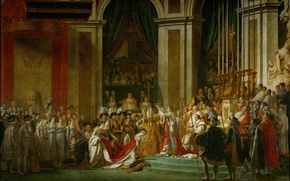 Wallpaper Napoleon, Jacques-Louis David, art, The anointing of the Emperor, The Coronation Of Napoleon