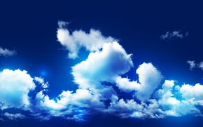Picture the sky, clouds, light, saturation