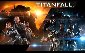 Picture Electronic Arts, Respawn Entertainment, Titanfall Poster