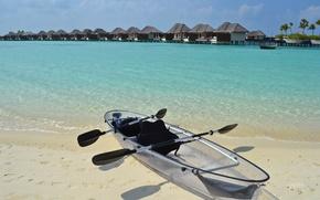 Picture beach, the ocean, shore, boat, resort