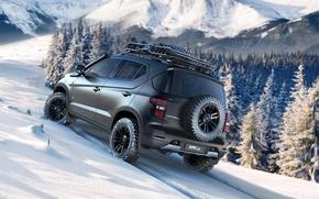 Picture auto, Concept, snow, mountains, Wallpaper, Chevy, Niva, Chevrolet Niva Concept, Niva 2016