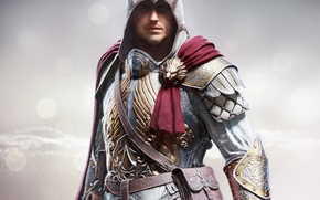 Picture look, steel, hood, armor, bag, cloak, bristles, killer, Ubisoft, Berserker, Assassins Creed: Identity