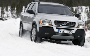 Wallpaper Volvo, snow, winter