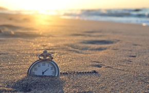 Picture sand, sea, beach, the sun, nature, time, river, background, Wallpaper, watch, wallpaper, widescreen, background, full …