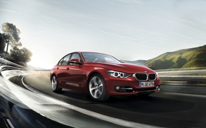 Picture BMW, red, 3 Series
