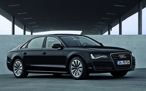 Picture Audi, Black, Sedan, Black, A8L, The front