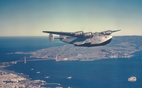 Picture Passenger, American, Seaplane, Clipper, Far, Boeing 314