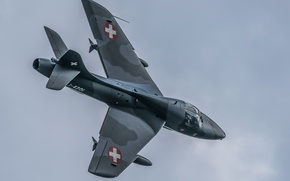 Picture flight, fighter, cabin, bomber, Hawker Hunter