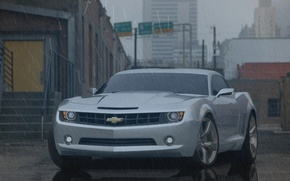 Picture city, camaro, rain