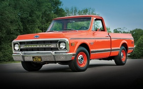 Picture background, Chevrolet, Chevrolet, pickup, 1970, the front, Pickup, C10, Fleetside