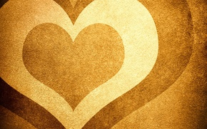 Picture sand, heart, brown, heart, beige, shades, Sands