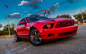 Picture Mustang, Ford, Red, The, Kid